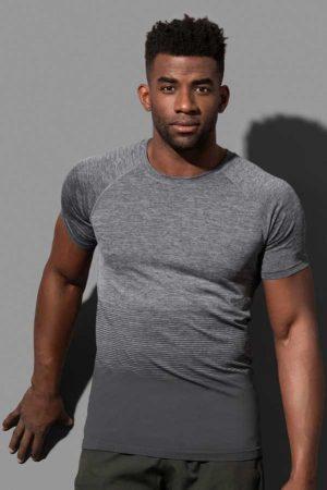 Športna majica kratek rokav Stedman Seamless Raglan Flow Dark Grey Transition