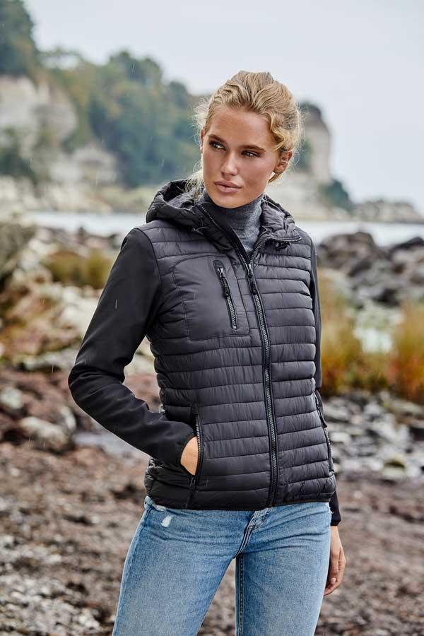 Ženska prehodna jakna Tee Jays Ladies' Hooded Crossover Jacket