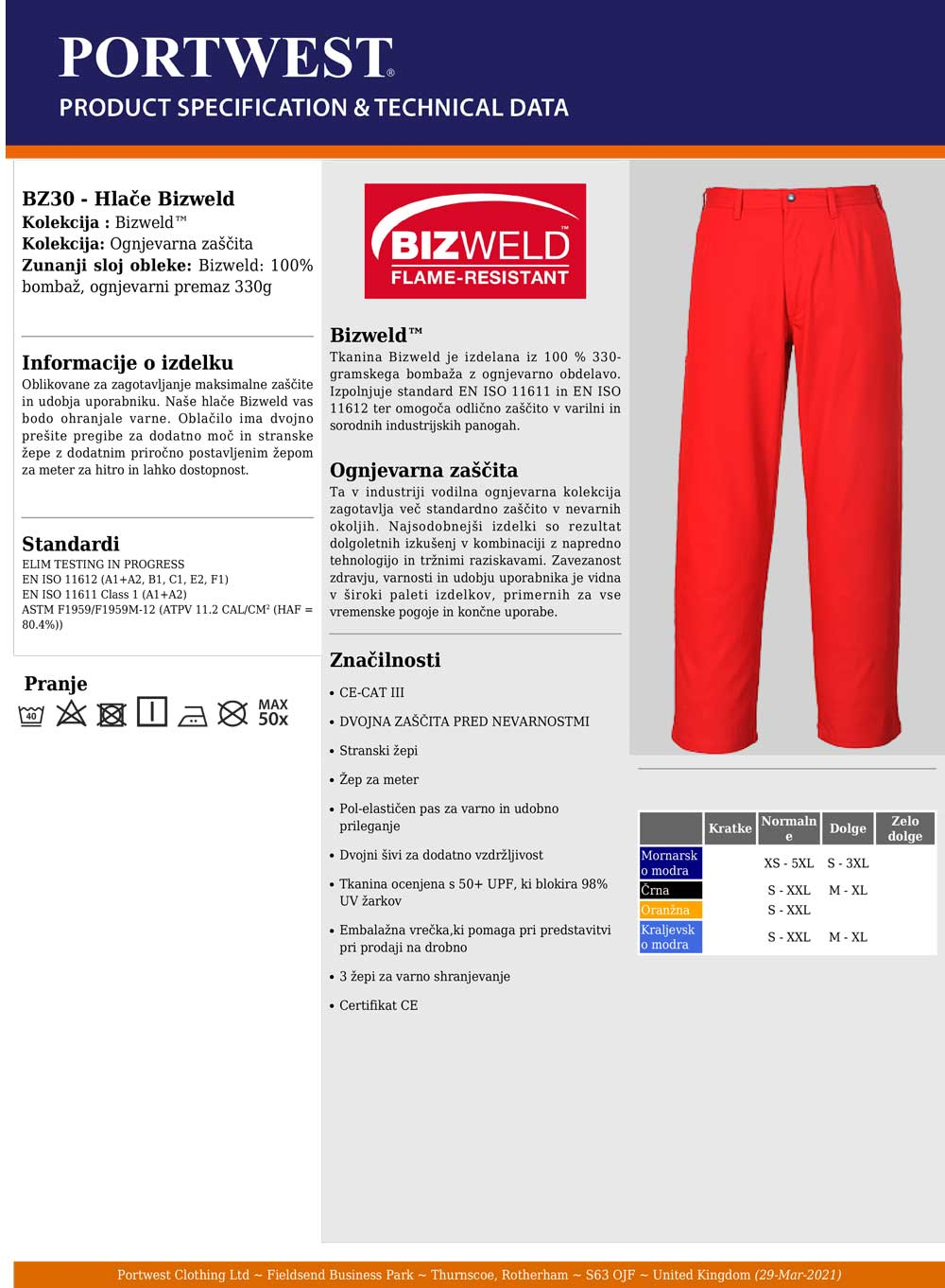 BZ30 Specifikacije