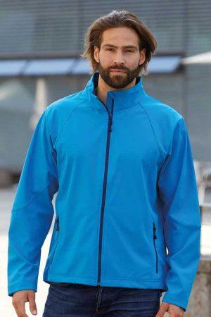 Softshell J&N Men's 3-Layer Softshell Jacket