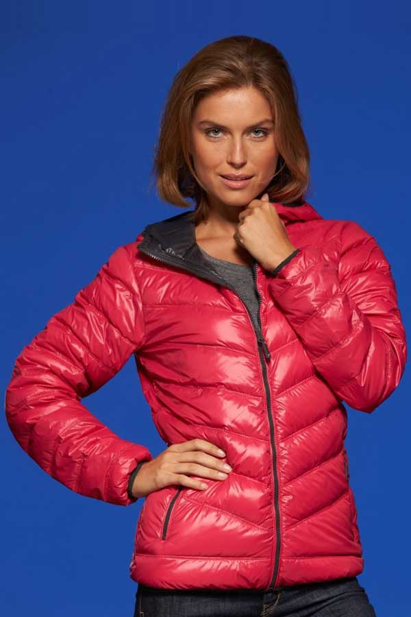 Ženska prehodna jakna J&N Lightweight Ladies' Down Hooded Jacket