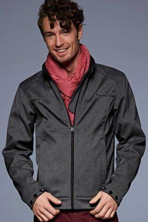 Softshell J&N Men's 3-Layer Melange Softshell Jacket