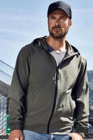 Softshell J&N Men's Hooded Softshell Jacket