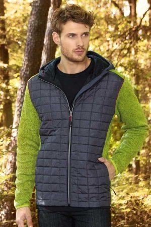 Prehodna jakna J&N Men's Knitted Hybrid Jacket