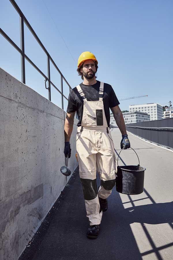 Delovne hlače farmer J&N Workwear Pants with Bib - STRONG