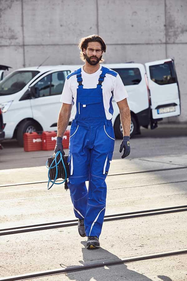 Delovne hlače farmer J&N Workwear Pants with Bib - COLOR