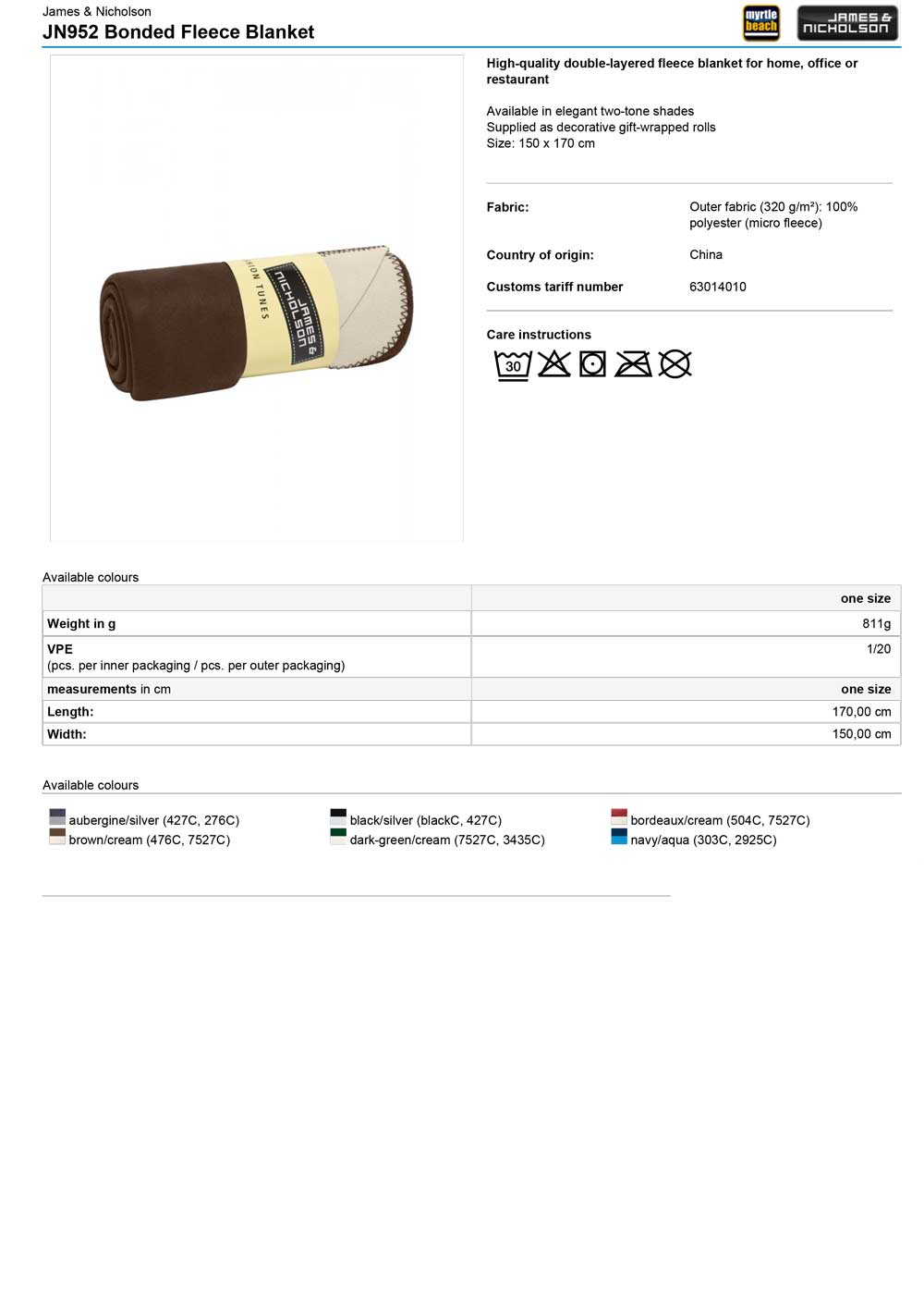JN952 Specifikacije
