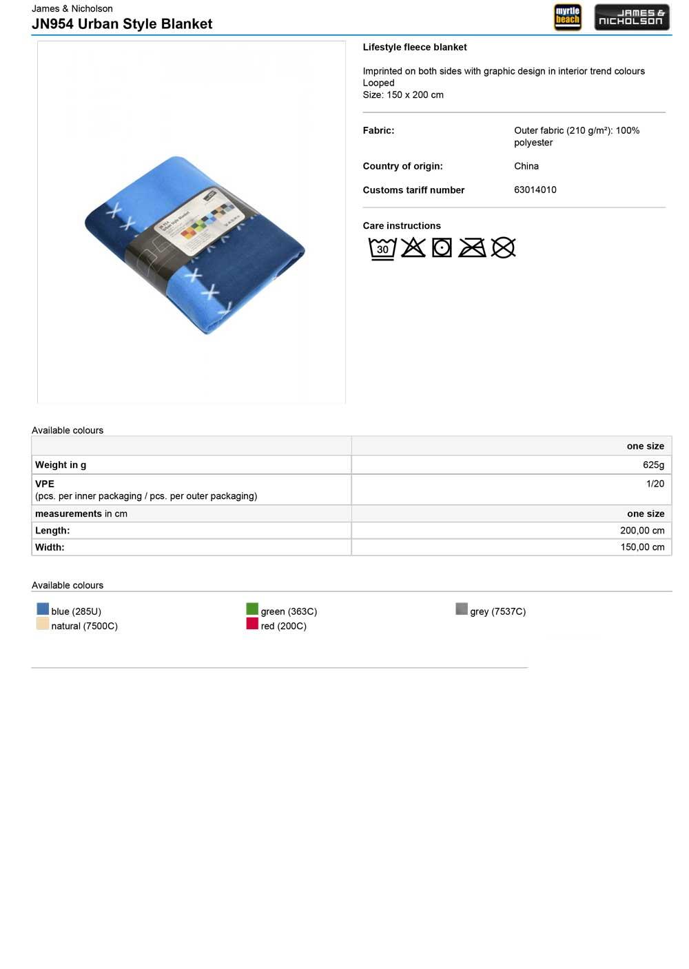 JN954 Specifikacije