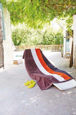 Brisača Kariban Striped Beach Towel