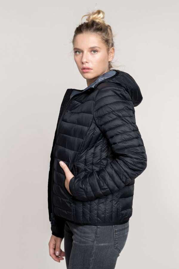 Ženska prehodna jakna Kariban Ladies' Lightweight Hooded Padded Jacket
