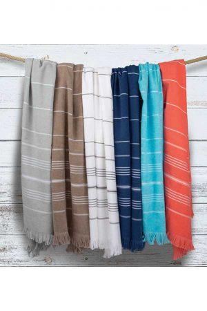 Brisača Olima Striped Beach & Spa Peshtemal Towel
