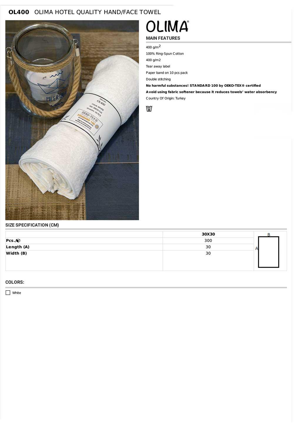 OL400 Specifikacije
