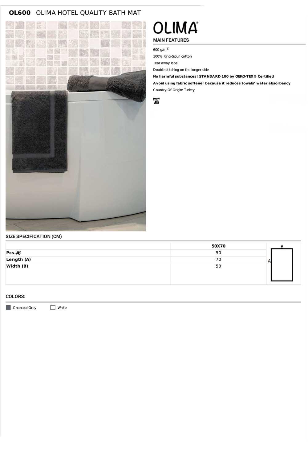 OL600 Specifikacije