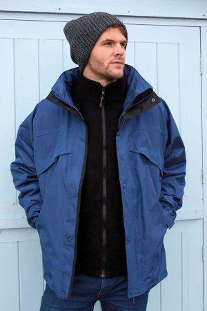 Zimska jakna Result 3-in-1 Jacket with Fleece