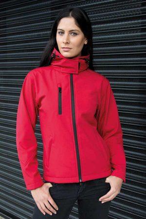 Ženski softshell Result Ladies TX Performance Hooded Softshell Jacket