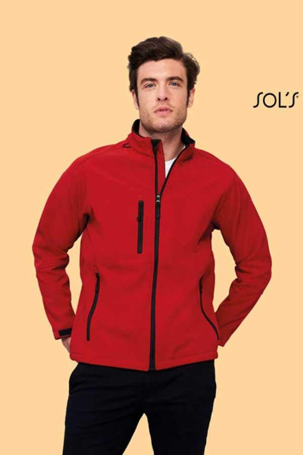 Softshell Sol's Relax – Men's Softshell Zipped Jacket