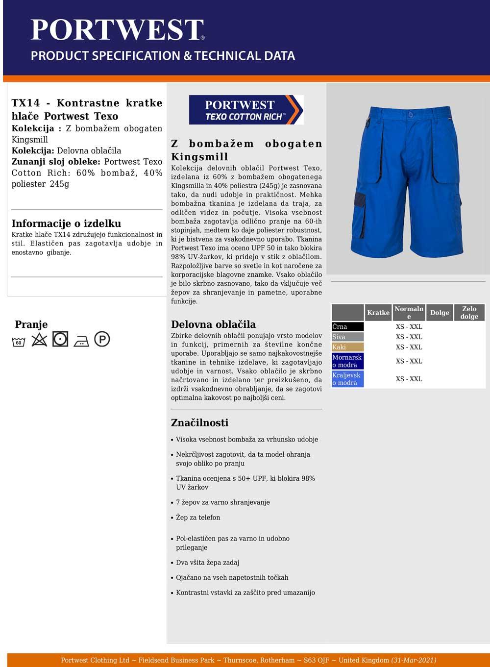 TX14 Specifikacije