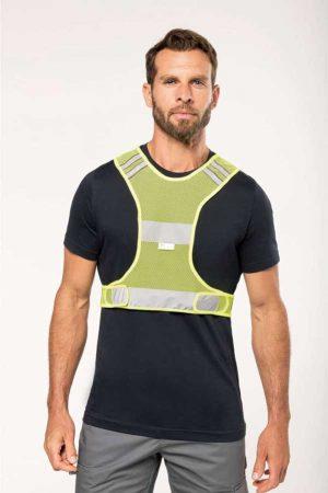 Varnostni telovnik WK Designed to Work Fluorescent Mesh Sports Vest
