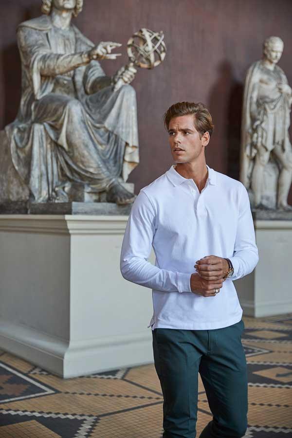 Polo majica dolg rokav Tee Jays Luxury LS Stretch Polo