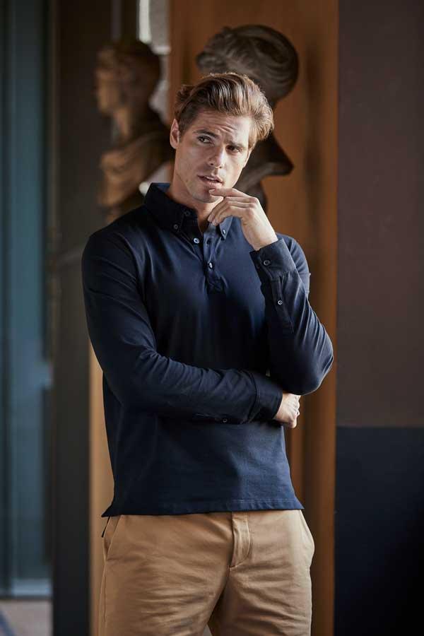 Polo majica dolg rokav Tee Jays Fashion LS Luxury Stretch Polo