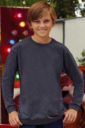 Otroška majica dolg rokav FOTL Kids Valueweight Long Sleeve T