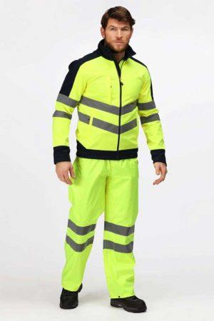 Varnostna jakna Regatta Professional Hi-Vis Pro 3 Layer Softshell