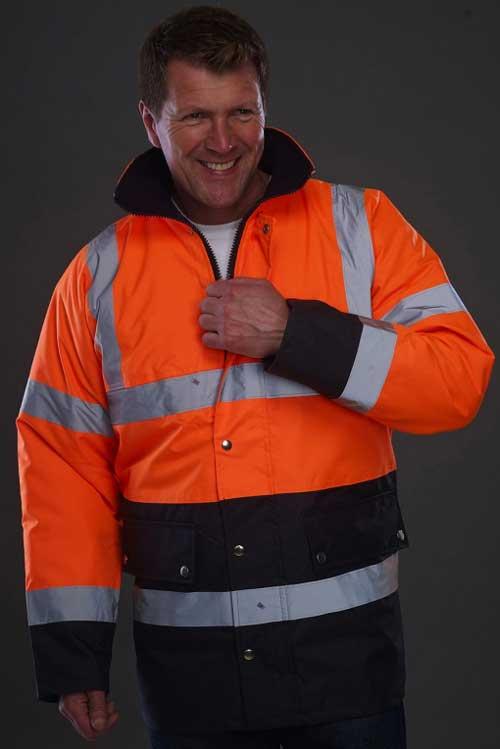 Visokovidna jakna Yoko Fluo 2 Tone Motorway Jacket