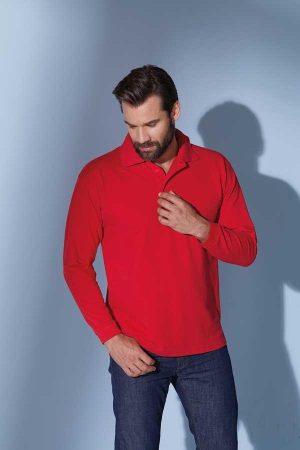 Polo majica dolg rokav J&N Polo Piqué Long-Sleeved