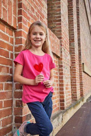 Dekliška majica kratek rokav J&N Promo-T Girl 150