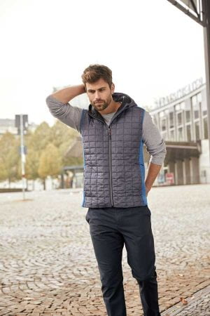 Telovnik J&N Men's Knitted Hybrid Vest
