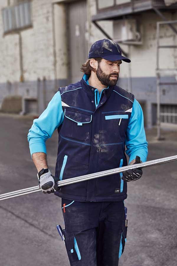 Delovni telovnik J&N Workwear Softshell Padded Vest - COLOR