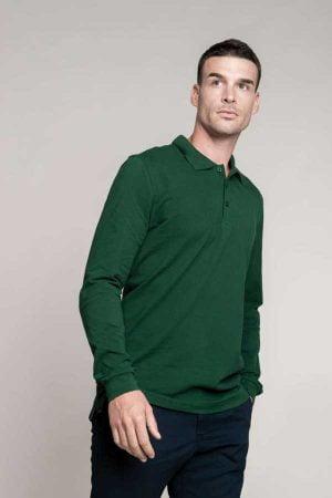Polo majica dolg rokav Kariban Men's Long Sleeved Polo Shirt