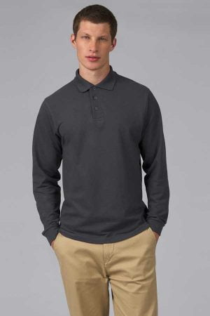 Polo majica dolg rokav B&C Heavymill LSL Polo