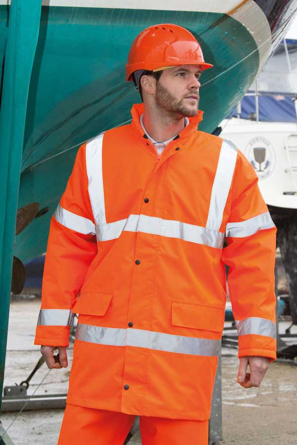 Visokovidna jakna Result Core Hi-Vis Motorway Coat