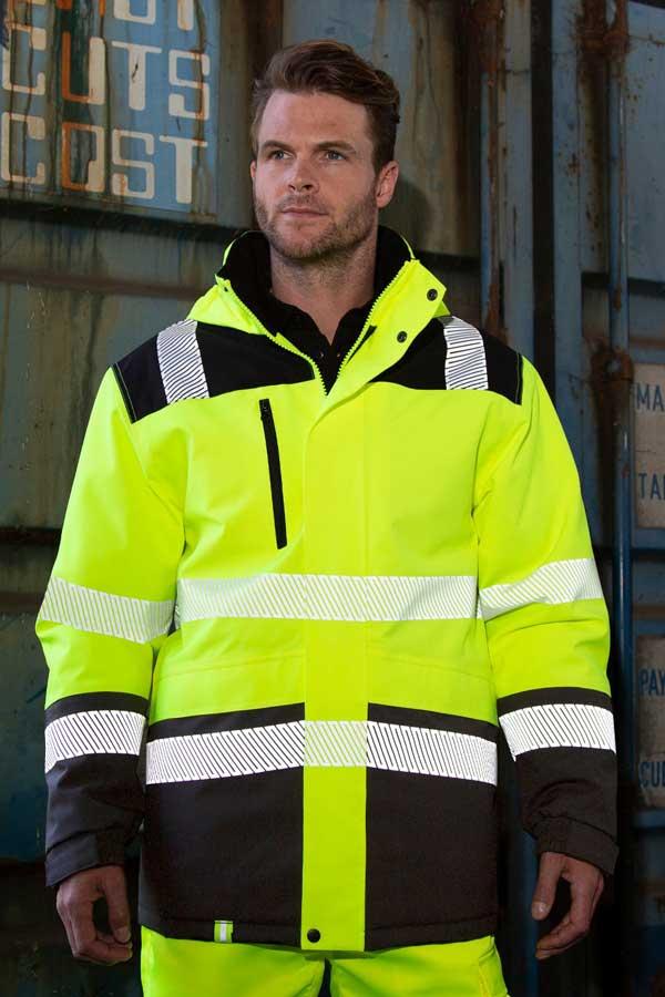 Visokovidna jakna Result Waterproof Softshell Safety Coat
