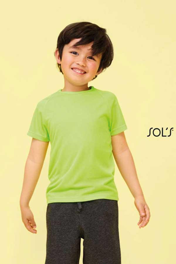 Otroška športna majica kratek rokav Sol's Sporty Kids - Raglan-Sleeved T-Shirt