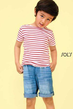 Otroška majica kratek rokav Sol's Miles Kids - Round Neck Striped T-Shirt