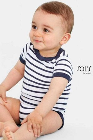 Bodi za dojenčka Sol's Miles Baby - Striped Bodysuit
