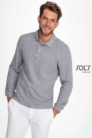Polo majica dolg rokav Sol's Winter II Men's Polo Shirt