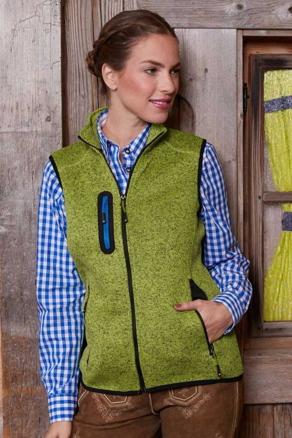 Ženski telovnik iz flisa J&N Ladies' Knitted Fleece Vest