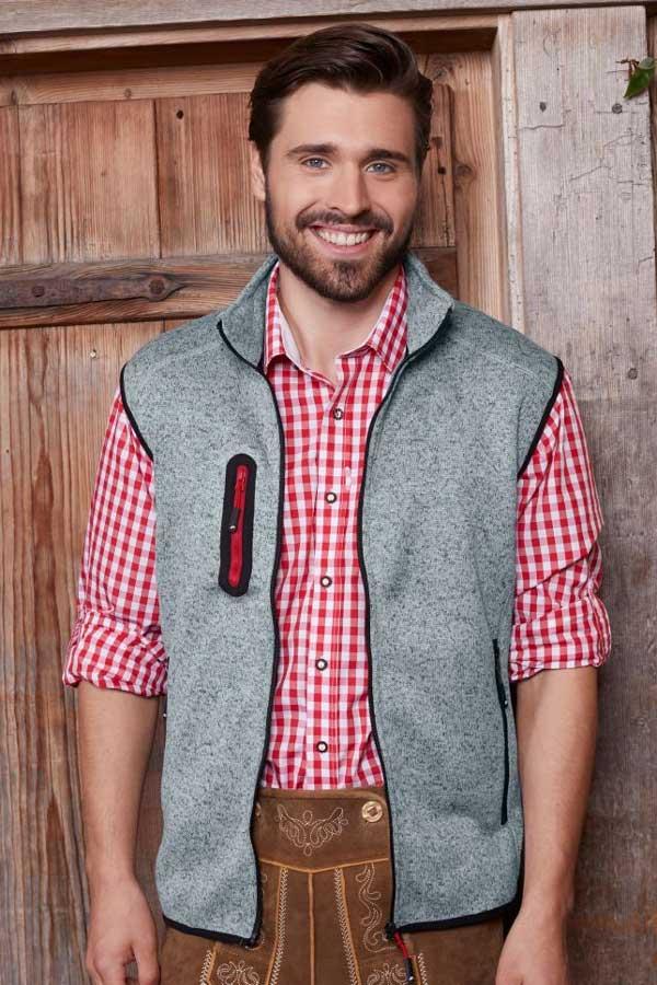 Telovnik iz flisa J&N Men's Knitted Fleece Vest